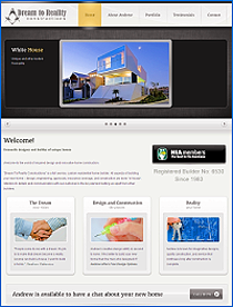 Website designed for Dream to Reality Construction