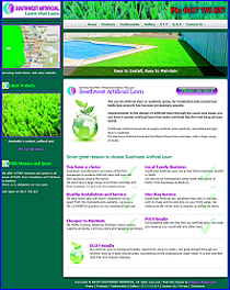 Website designed for Southwest Artificial Lawn